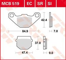 TRW Plaquettes de frein organique MCB519