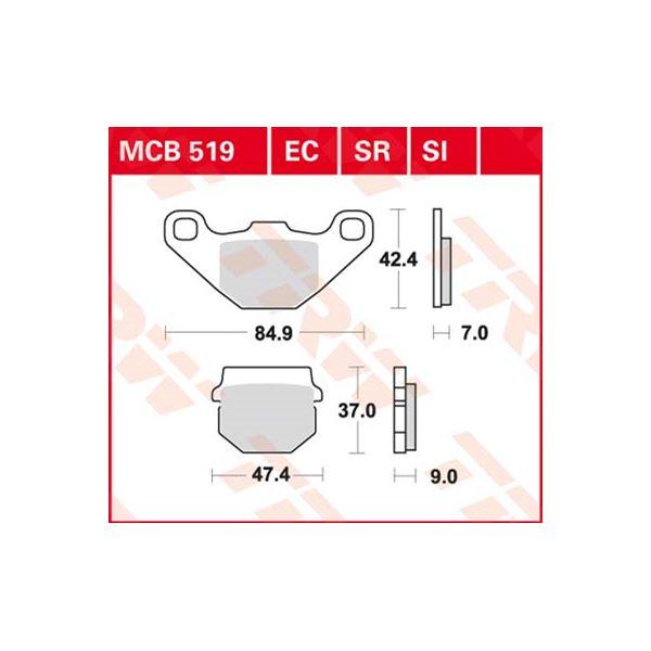 TRW Standaard remblokken MCB519