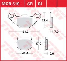 TRW Plaquettes de frein métal fritté SI MCB519SI