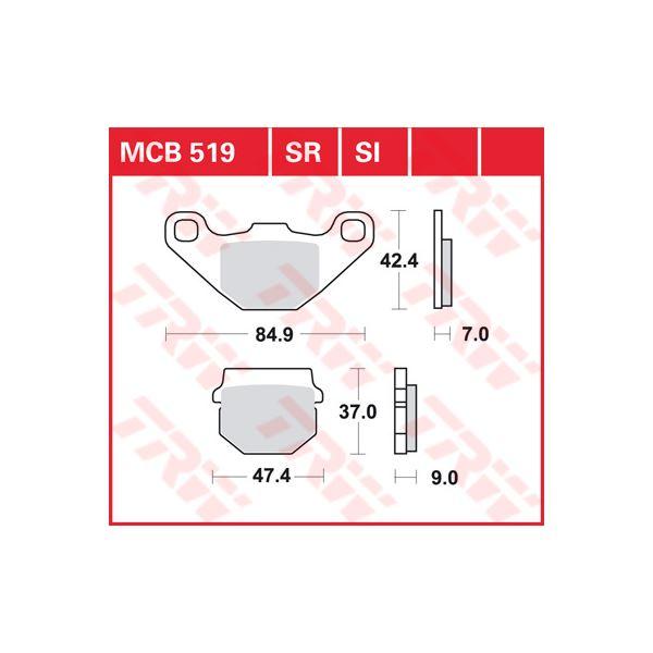 TRW SI Remblokken sinter metaal MCB519SI