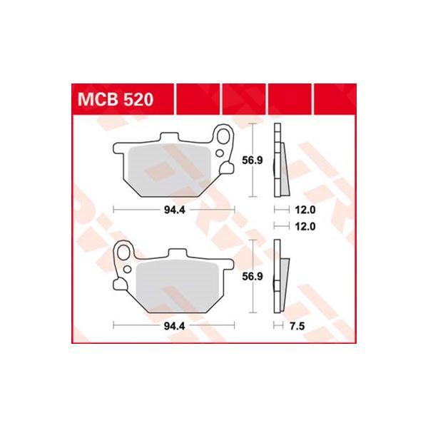 TRW Standaard remblokken MCB520