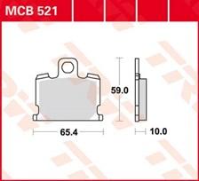 TRW Plaquettes de frein organique MCB521