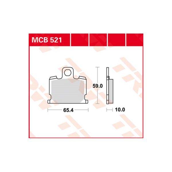 TRW Standaard remblokken MCB521