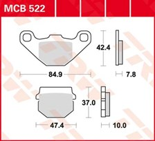 TRW Plaquettes de frein organique MCB522