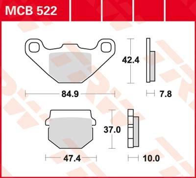 TRW Standaard remblokken MCB522