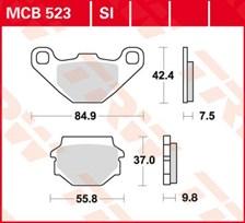 TRW Plaquettes de frein organique MCB523
