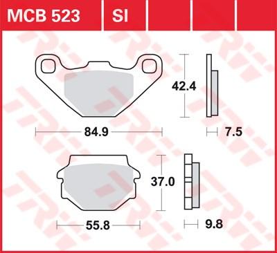 TRW SI Remblokken sinter metaal MCB523SI