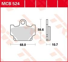 TRW Plaquettes de frein organique MCB524
