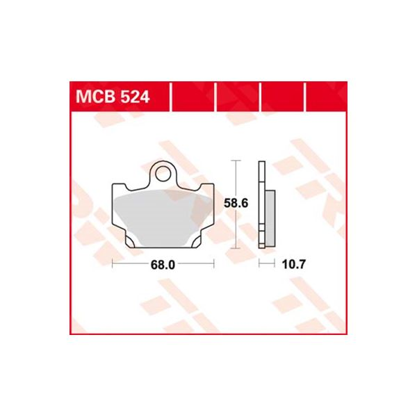 TRW Standaard remblokken MCB524