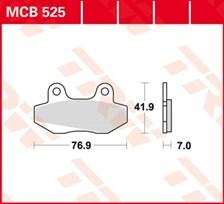 TRW Plaquettes de frein organique MCB525