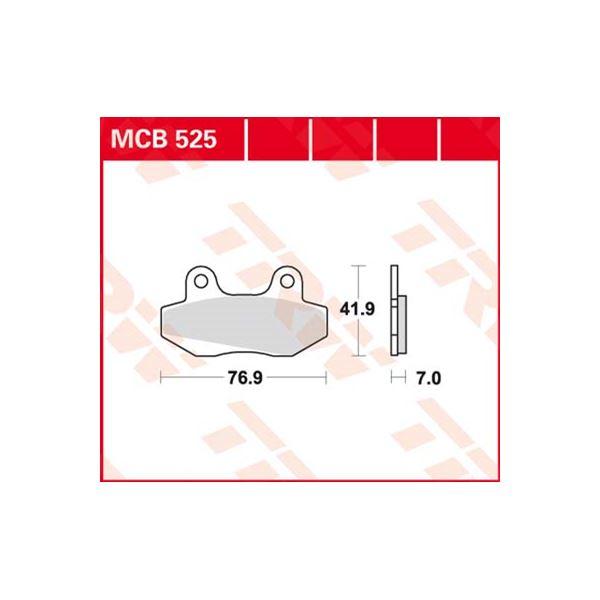 TRW Standaard remblokken MCB525
