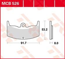 TRW Plaquettes de frein organique MCB526