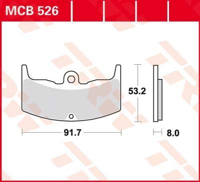 TRW Standaard remblokken MCB526