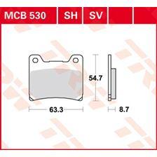 TRW Plaquettes de frein organique MCB530