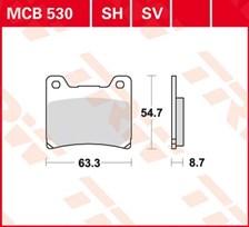 TRW Plaquettes de frein SV/SH MCB530SH