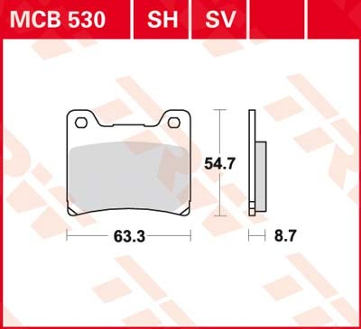 TRW SV/SH Remblokken MCB530SH
