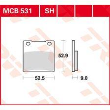 TRW Plaquettes de frein organique MCB531