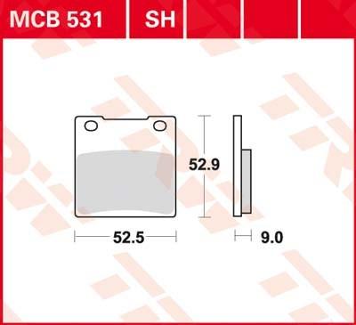 TRW Standaard remblokken MCB531