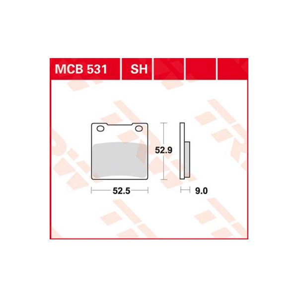 TRW Plaquettes de frein SV/SH MCB531SH