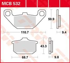 TRW Plaquettes de frein organique MCB532