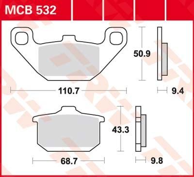 TRW Standaard remblokken MCB532