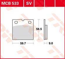 TRW Plaquettes de frein organique MCB533