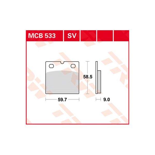 TRW Standaard remblokken MCB533