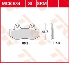TRW Plaquettes de frein organique MCB534