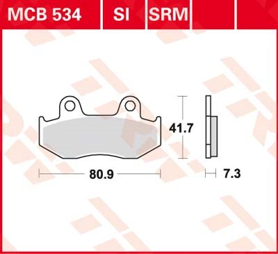 TRW Standaard remblokken MCB534