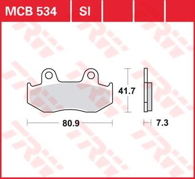 TRW SI Remblokken sinter metaal MCB534SI