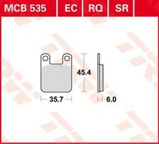 TRW Plaquettes de frein organique MCB535