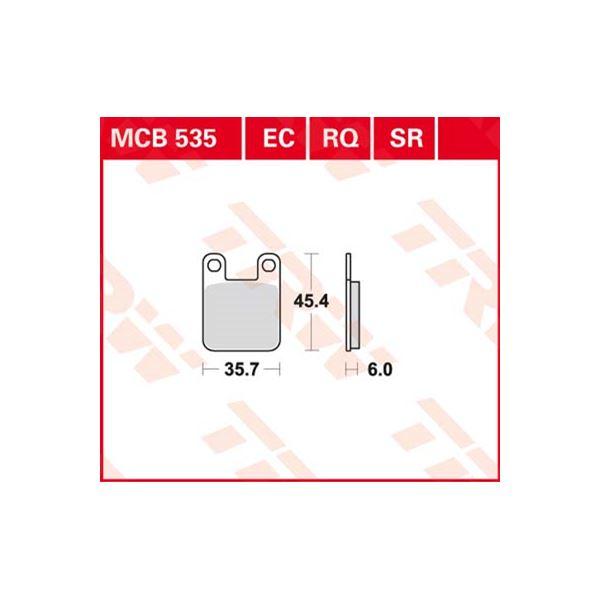 TRW Standaard remblokken MCB535
