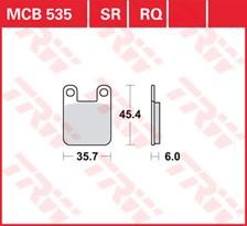 TRW Plaquettes de frein qualité racing MCB535RQ