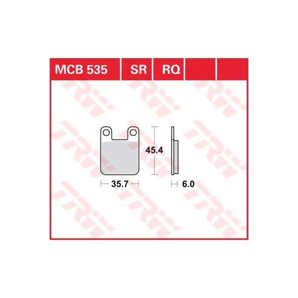TRW racing quality remblokken MCB535RQ