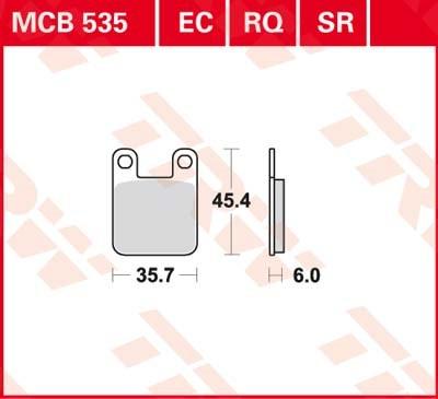 TRW Sinter metaal remblokken MCB535SR