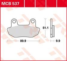 TRW Plaquettes de frein organique MCB537