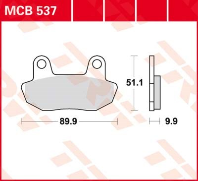 TRW Standaard remblokken MCB537