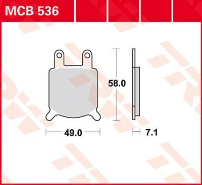 TRW Standaard remblokken MCB536