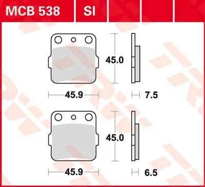 TRW SI Remblokken sinter metaal MCB538SI