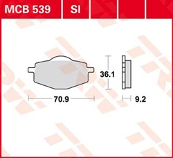TRW SI Remblokken sinter metaal
