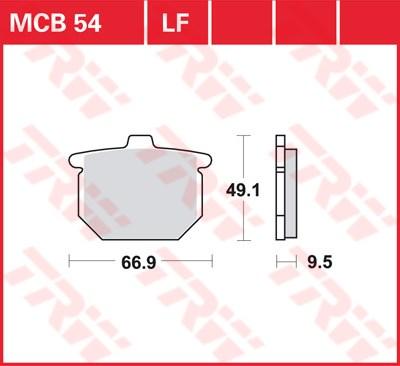 TRW Standaard remblokken MCB054