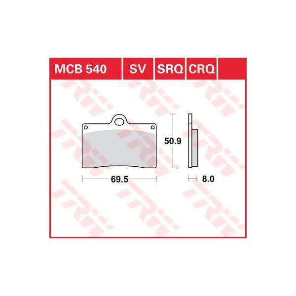 TRW CRQ remblokken MCB540CRQ