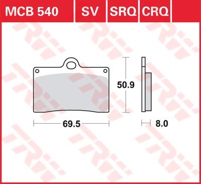 TRW SRQ remblokken MCB540SRQ