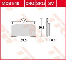 TRW Plaquettes de frein SV/SH MCB540SV