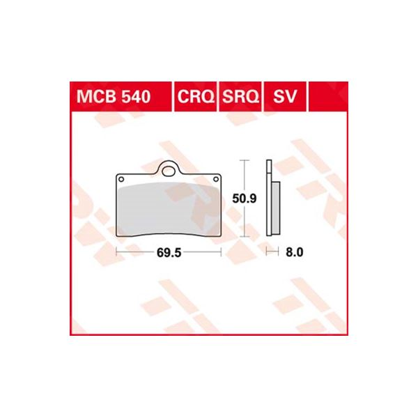 TRW SV/SH Remblokken MCB540SV