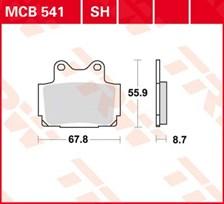 TRW Standaard remblokken MCB541