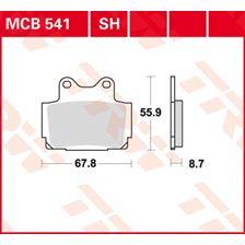 TRW Plaquettes de frein organique MCB541