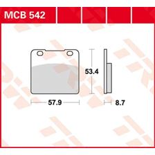 TRW Plaquettes de frein organique MCB542