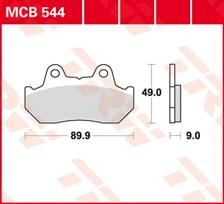 TRW Plaquettes de frein organique MCB544