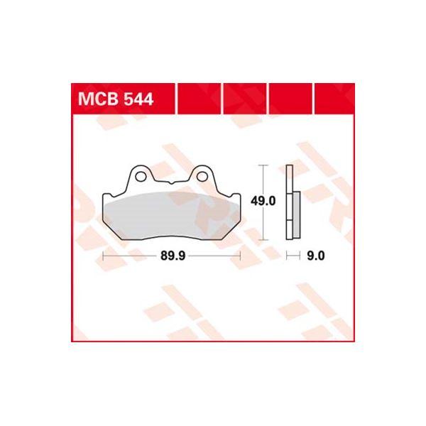 TRW Standaard remblokken MCB544